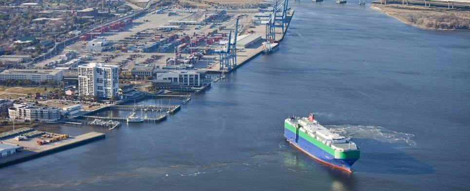South Carolina ports see revenue growth thanks to increases in import cargo shipments and export cargo shipments.