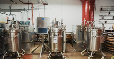 """SPEED TO MARKET Cleveland Whiskey speed-ages bourbon by sending a formula for """"white dog"""" whiskey to producers in Kentucky and Indiana, who age the distillate for a couple of weeks and then ship it to Ohio to be pressure-aged."""
