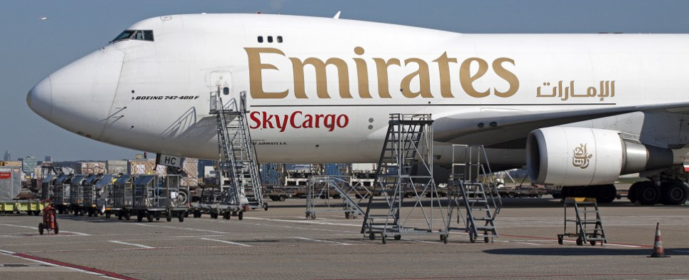 Emirates Group acquired new aircraft in first half of this fiscal year allowing the airlie to handle more shipment so export cargo and import cargo in international trade.