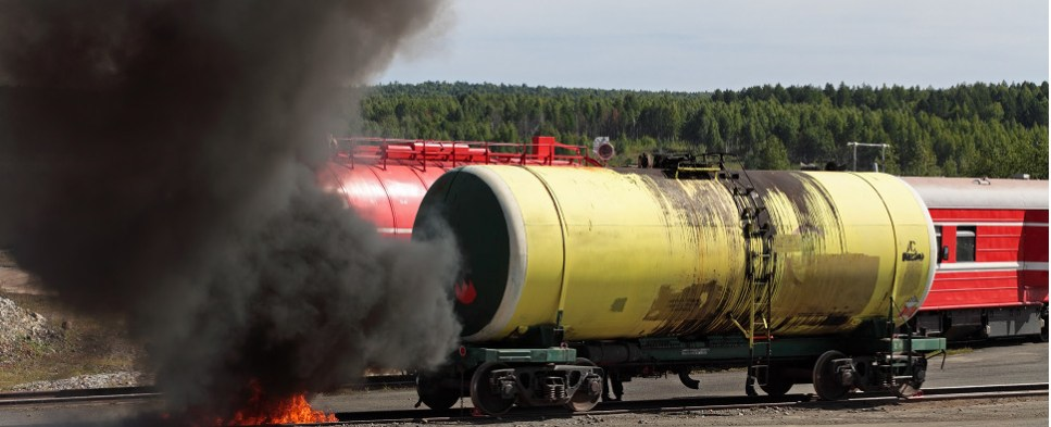 Environmental groups point out dangers of transporting fuel shipments of export cargo and import cargo in international trade by rail.