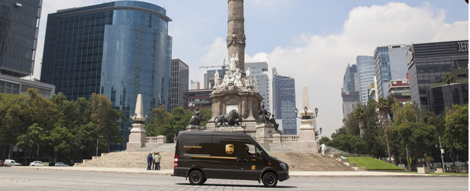 UPS expediting shipments of export cargo and import cargo in international trade. across US-Mexico border.