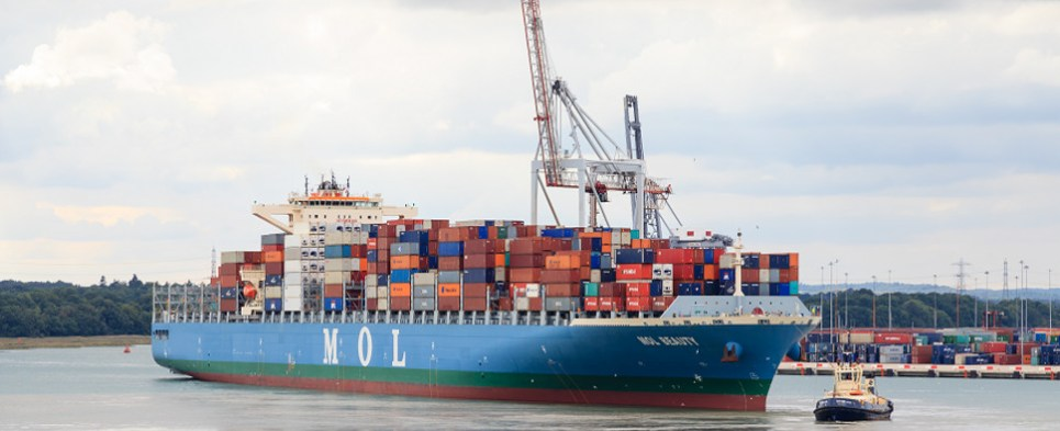 MOL's service reliability was best carrying shipments of export cargo and import cargo in international trade.