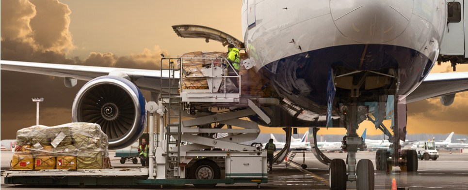 New British cargo airline is carrying shipments of export cargo and import cargo in international trade.