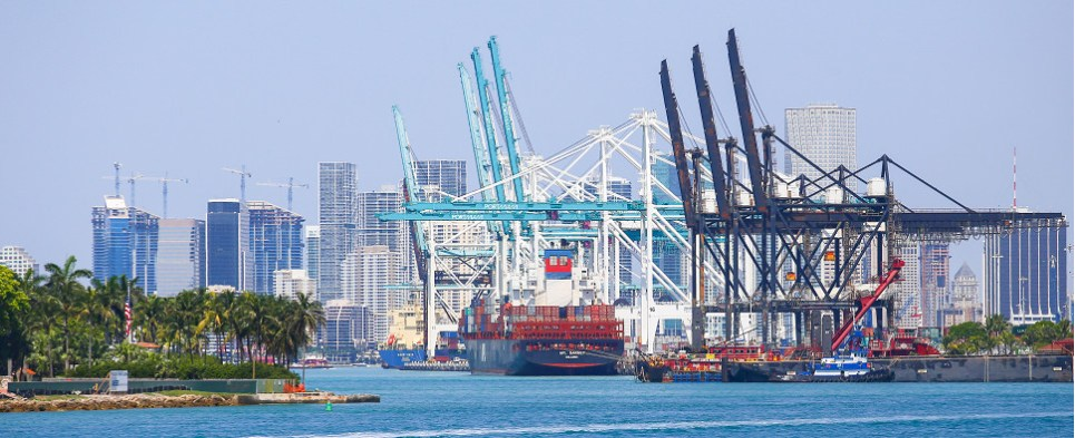 PortMiami is handling more shipments of export cargo and import cargo in international trade.
