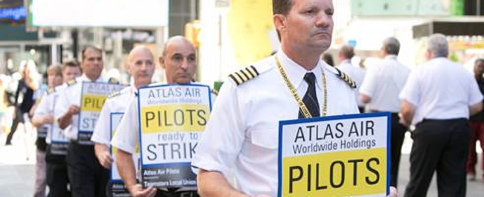 Atlas pilots strike would impact shipments of export cargo and import cargo in international trade.