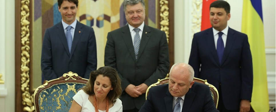 Canada-Ukraine free trade agreement will boost shipments of export cargo and import cargo in international trade.