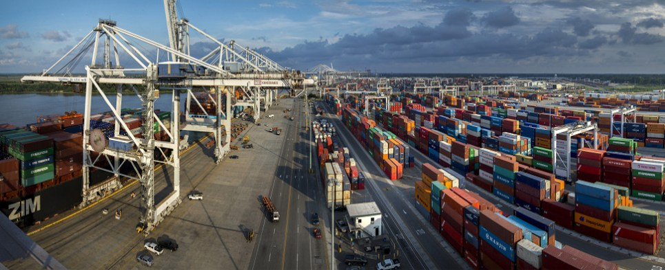 Goergia ports have been handling more shipments of export cargo and import cargo in international trade.