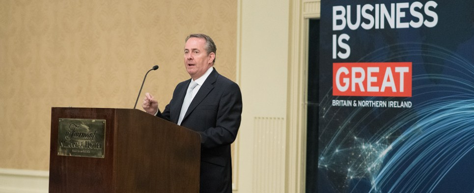 UK offical was in LA to promote US-UK shipments of export cargo and import cargo in international trade.