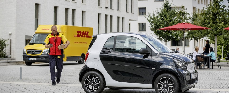 DHL is testing car trunk last-mile deliveries for shipments of export cargo and import cargo in international trade.