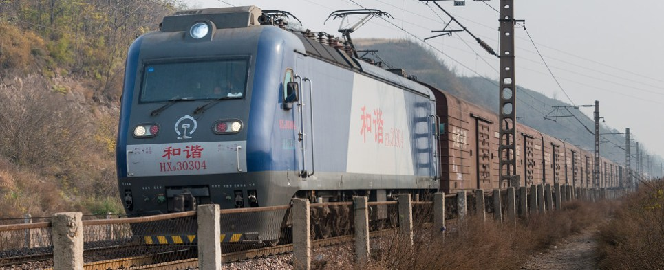 Shipments of export cargo and import cargo in international trade are moving between China and Europe by rail.