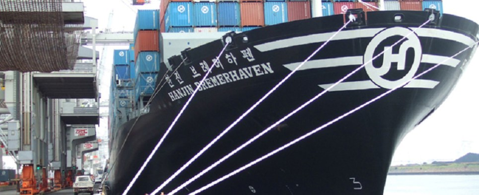 Hanjin bankruptcy jeopardizing flow of shipments of export cargo and import cargo in international trade.