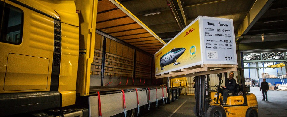 Hyperloop is new technology to carry shipments of export cargo and import cargo in international trade.