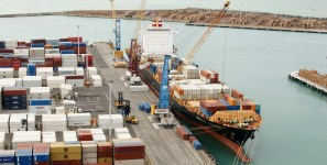 Cocaine found aboard vessel carrying shipments of export cargo and import cargo in international trade.