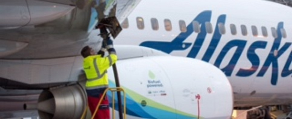 Alaska Airlines is experimenting with biofuels to carry shipments of export cargo and import cargo in international trade.