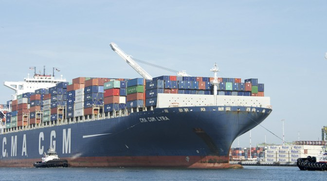 CMA CGM is losing money carrying shipments of export cargo and import cargo in international trade.