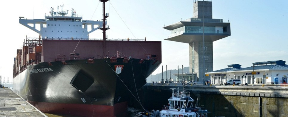 The expanded Panama canal can handle larger ships that carry more shipments of export cargo and import cargo in international trade.