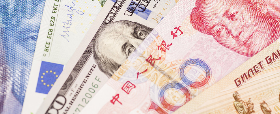 China's currency exchange rate impacts shipments of export cargo and import cargo in international trade.