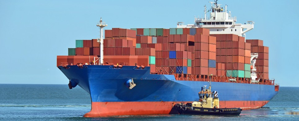 Students learn processes for ocean shipments of export cargo and import cargo in international trade.