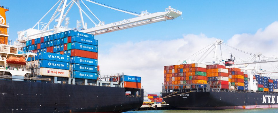 Ports move shipments of export cargo and import cargo in international trade.