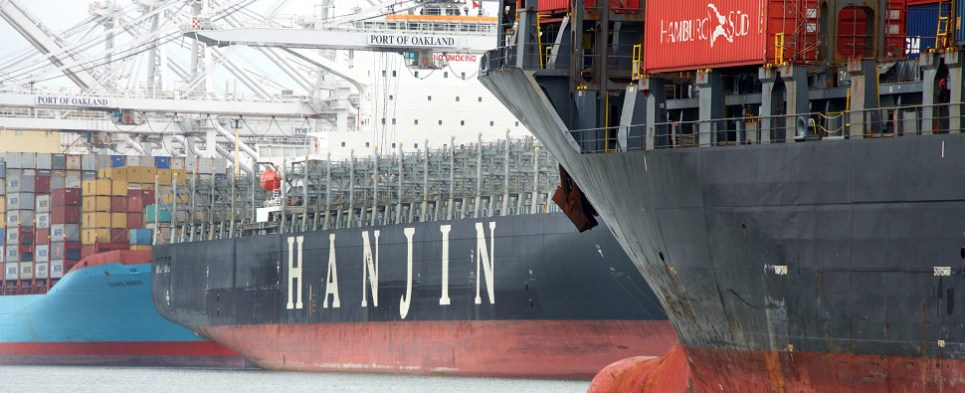 Hanjin no longer carries shipments of export cargo and import cargo in international trade.