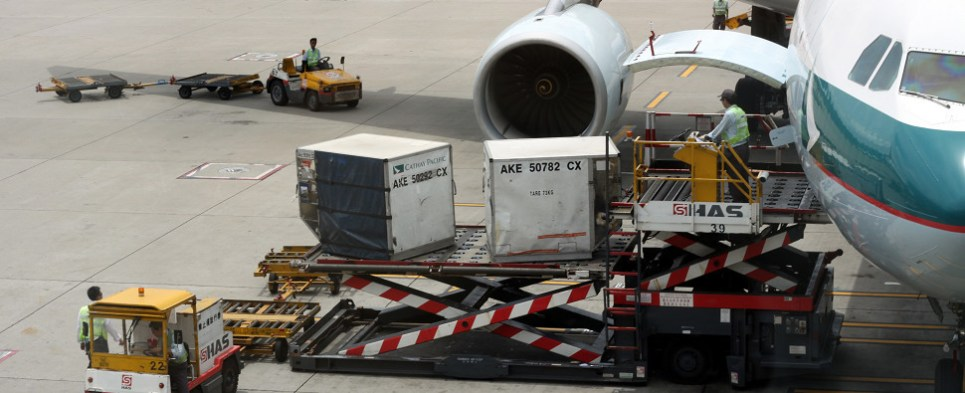 In January Asia saw more air shipments of export cargo and import cargo in international trade.