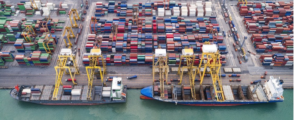 US port are seeing more shipments of export cargo and import cargo in international trade.