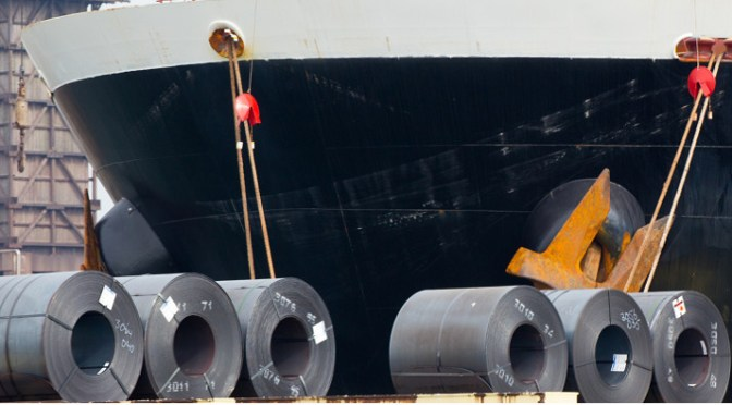 Administration is investigating steel shipments of export cargo and import cargo in international trade.