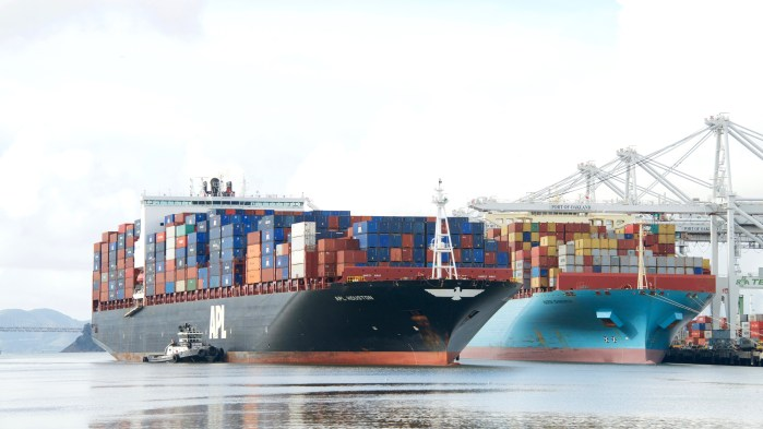 Ocean carrier CMA CGM is carrying more shipments of export cargo and import cargo in international trade.