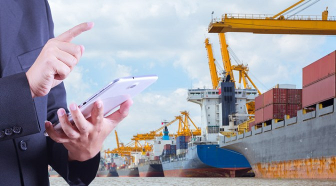 Using automation to manage shipments of export cargo and import cargo in international trade.