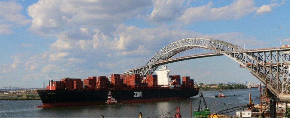 Raising of the Bayonne Bridge allows the port of NYNJ to handle more shipments of export cargo and import cargo in international trade.