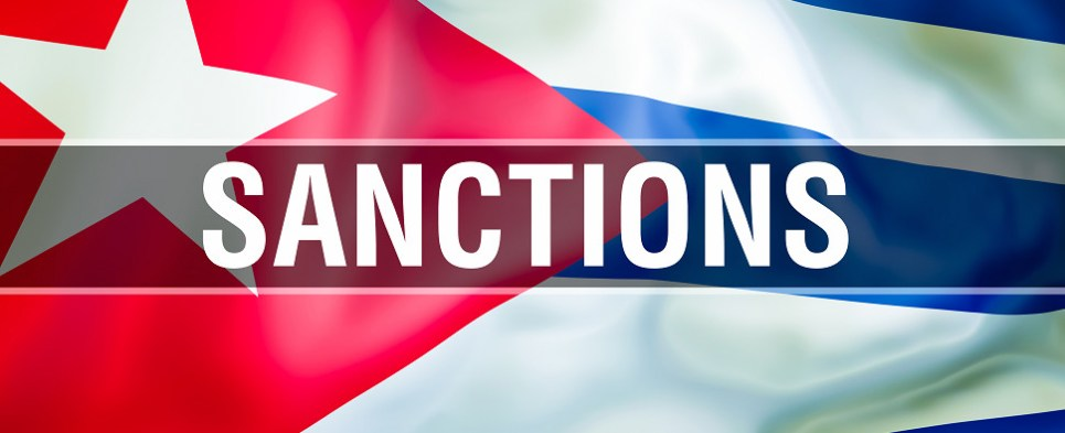 Cuba sanctions impact shipments of export cargo and import cargo in international trade.