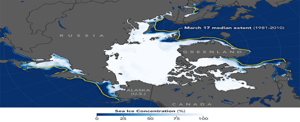 More shipments of export cargo and import cargo in international trade are transiting the Arctic Ocean.