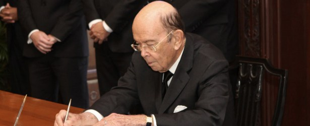 Commerce Secretary Wilbur Ross comments on shipments of export cargo and import cargo in international trade.