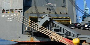 Ro/ro ships carry more shipments of export cargo and import cargo in international trade.