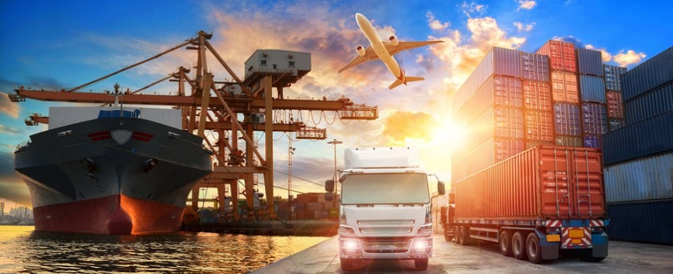 Platform processes shipments of export cargo and import cargo in international trade.