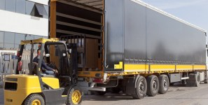 Software helps manage truck shipments of export cargo and import cargo in international trade.