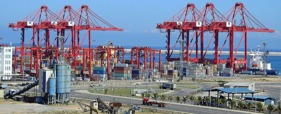 China's investments are directed toward infrastructure for shipments of export cargo and import cargo in international trade.