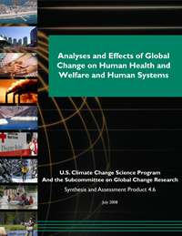 Analyses of the Effects of Global Change on Human Health and Welfare and Human Systems