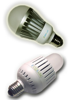 LED bulbs have not been known for their brightness, but manufacturers are working hard to change that. EarthLED is lighting the way with its EvoLux and ZetaLux bulbs, pictured here, which deliver the equivalent of 100-watt and 50-60 watt incandescents, respectively