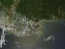 Louisiana oil spill - Nasa satellite image, April 29, 2010