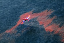 Dispersants applied to the Gulf oil spill
