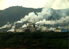 China passed the U.S. as the world's leading greenhouse gas emitter back in 2006 and today produces some 17 percent of the world's total carbon dioxide output. Pictured: A factory in China at the Yangtse River.