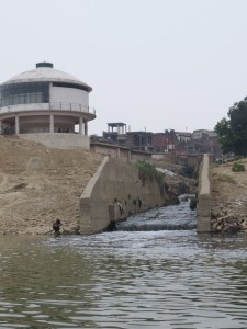 Fig. 3. Sewage channel or nala that has replaced the ancient Assi river upstream in Varanasi. The Assi river no longer exists. Photo by Kelly D. Alley, June 2014