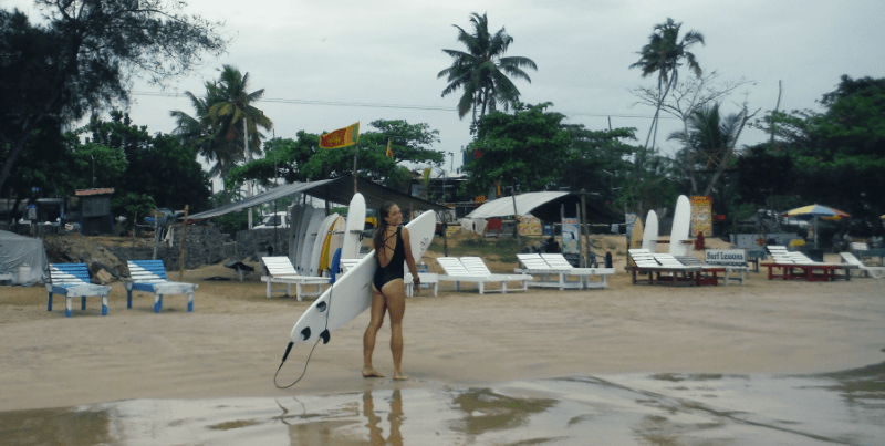 Surf & Yoga in Mirissa: a Backpacker's Getaway