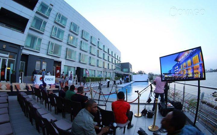 pool party at-Radisson Blu hotel, Lagos