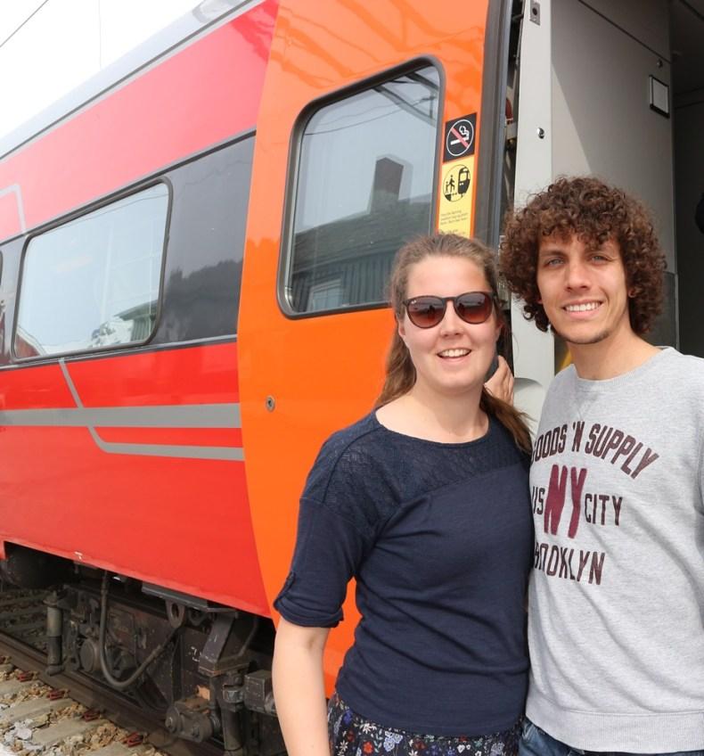 trein van Oslo naar Bergen