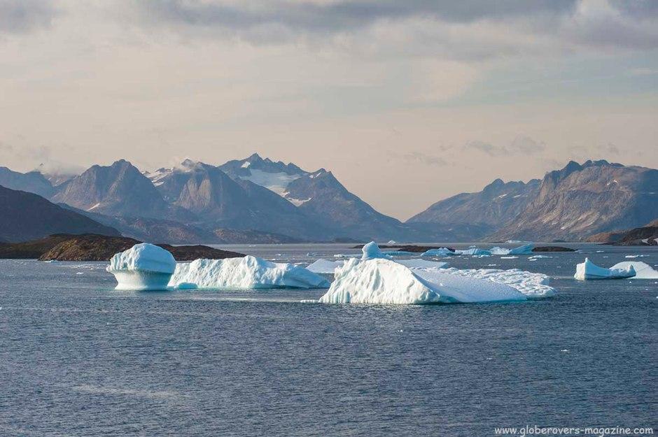 Icebergs around Kulusuk Village, GREENLAND