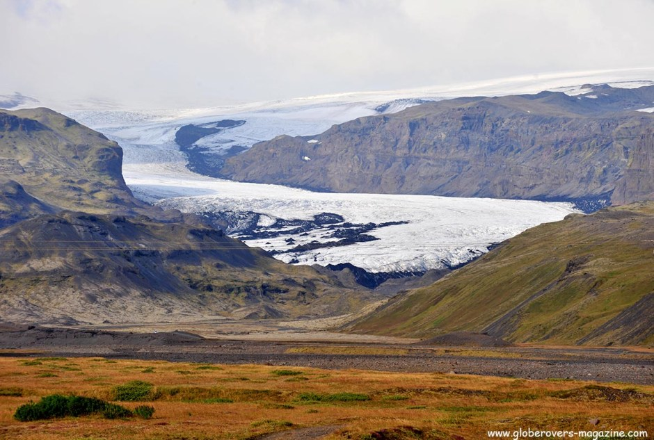 Sólheimajökull (tongue of Mýrdalsjökull Glacier), Iceland Skogafoss, ICELAND