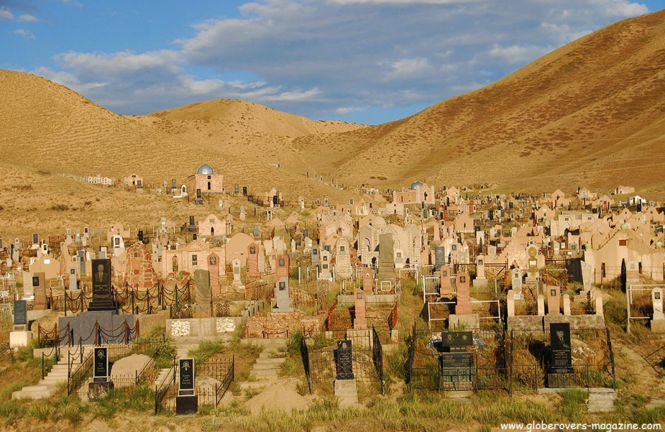 Graveyard outside the town of Naryn, Kyrgyzstan
