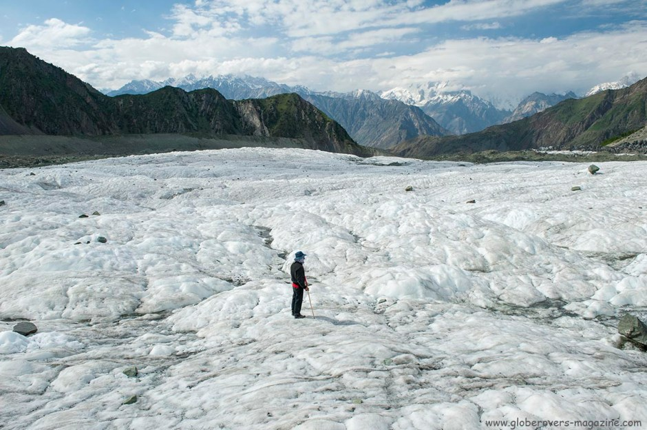 Minapin Glacier at Rakaposhi Base Camp, Hunza Vallay, PAKISTAN